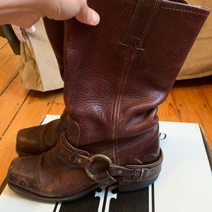 Frye Brown Harness Boots